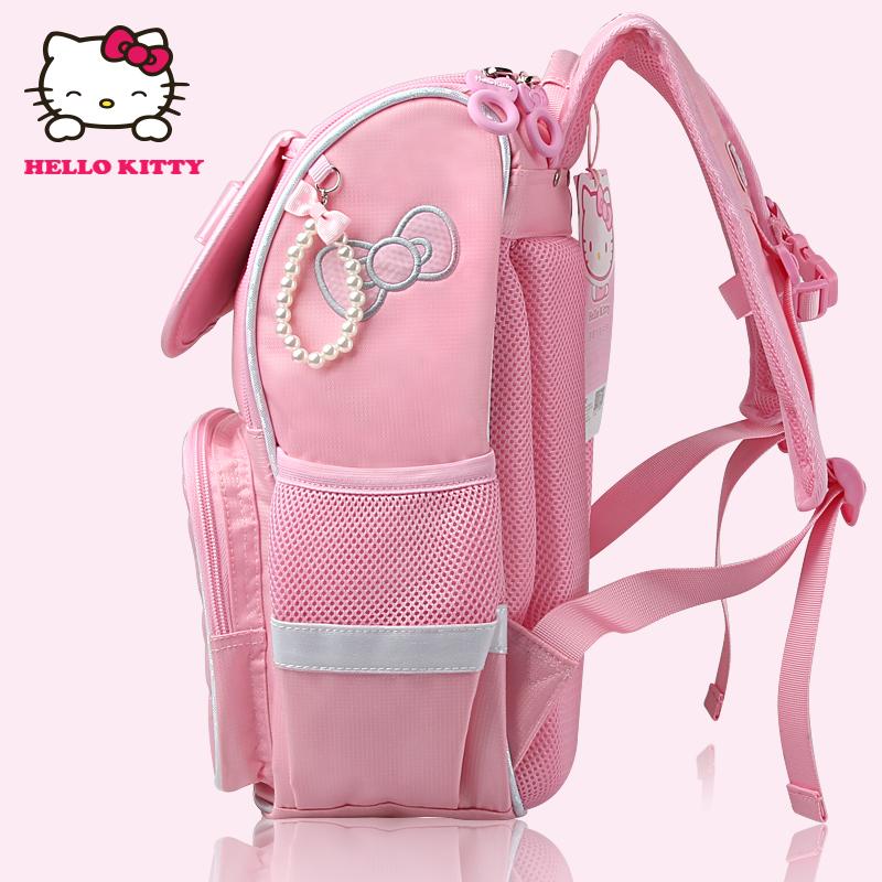hellokitty儿童双肩书包 小学生书包女生1-6年纪韩版减负护脊背包