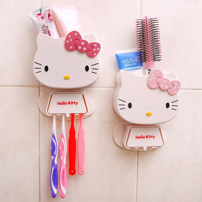 牙刷架 吸壁式創意多功能卡通牙膏架可愛牙具座衛生間化妝品收納