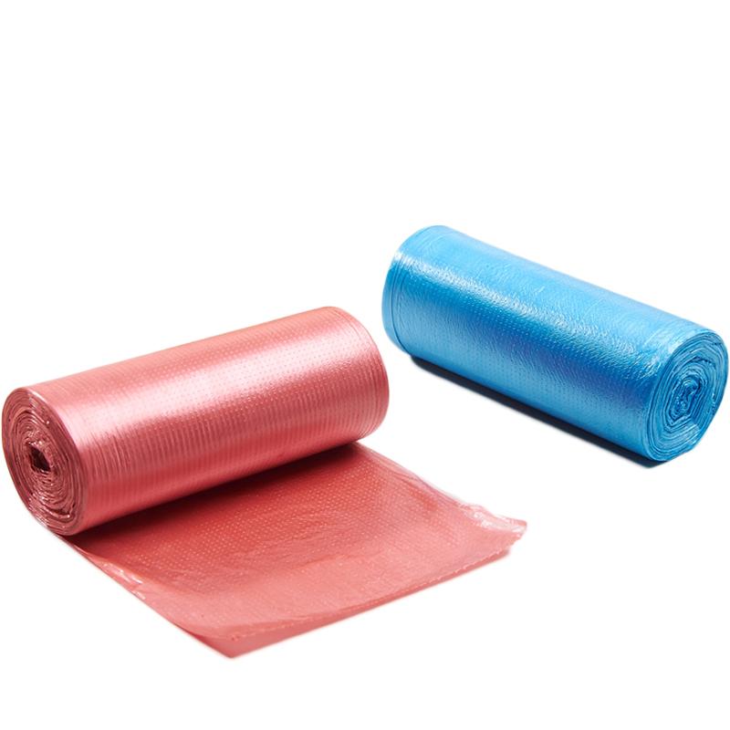 哆麦家居中号超市点断式平口垃圾袋炫彩家用加厚彩色环保垃圾袋