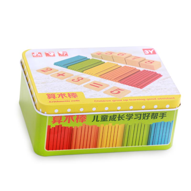 儿童数数棒幼儿园计数器小学数学教具早教算术棒算数棒学习盒玩具