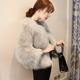 Spot Leather grass coat female short paragraph 2020 Hitz Slim imitation fur imitation fox fur fur