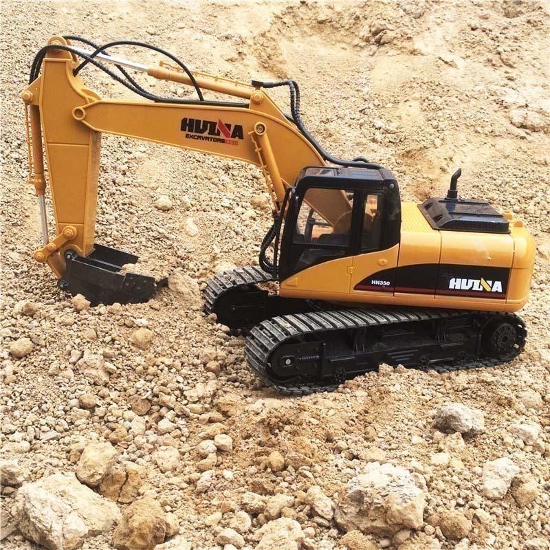 [淘寶網] 匯納合金挖土機15通道鉤機2.4G遙控挖掘機大吊車3-9歲兒童玩具車