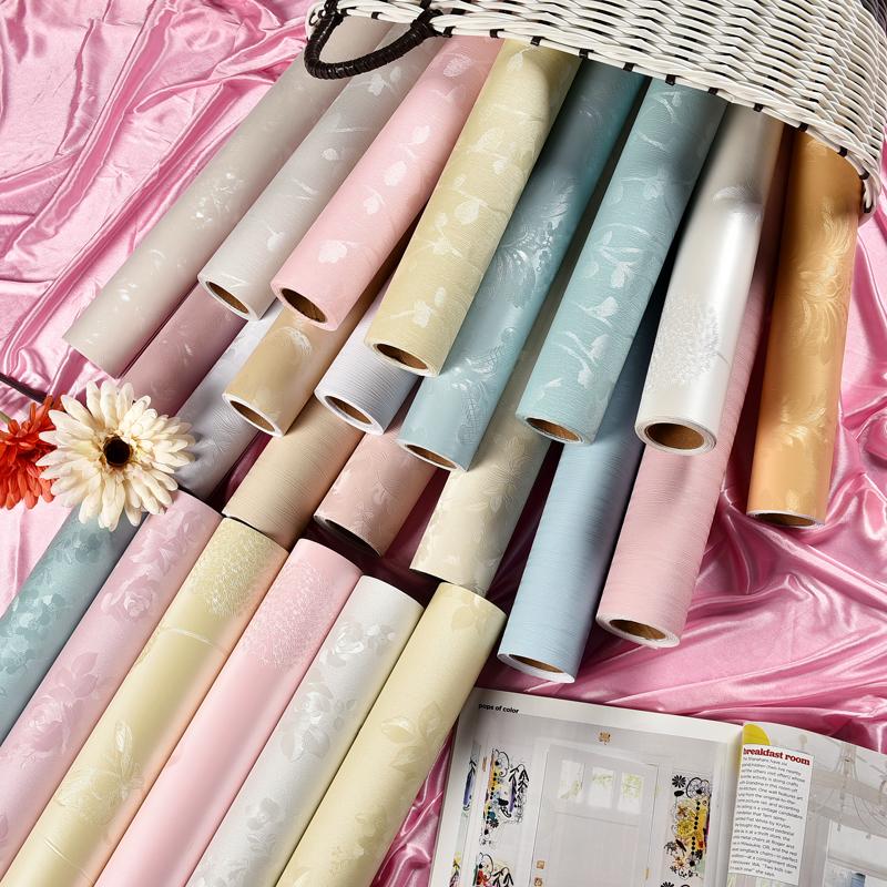 防水防潮壁纸自贴 pvc 加厚耐磨墙纸自带胶即时贴卧室客厅环保无毒