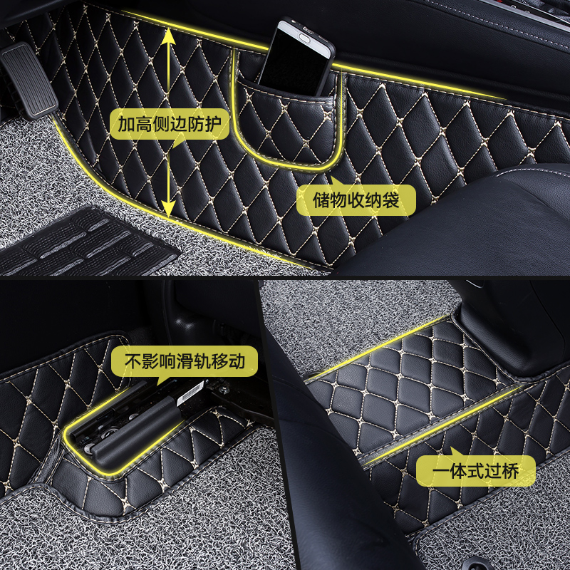 长城欧拉r1黑猫白猫汽车脚垫专用装饰电动360全包围丝圈内饰 改装