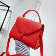 红色包包女2018新款结婚包新娘包欧美时尚大气凯莉手提百搭斜挎包