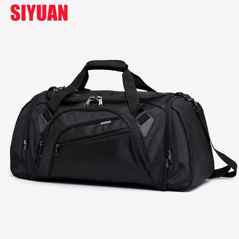 大容量单肩旅行包男手提健身包女短途行李包鞋位旅行袋训练运动包
