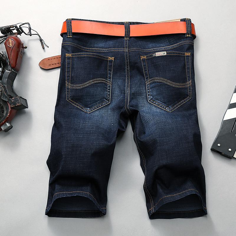 夏天牛仔短裤男 五分裤夏季超薄款5分修身直筒宽松短款裤男士马裤
