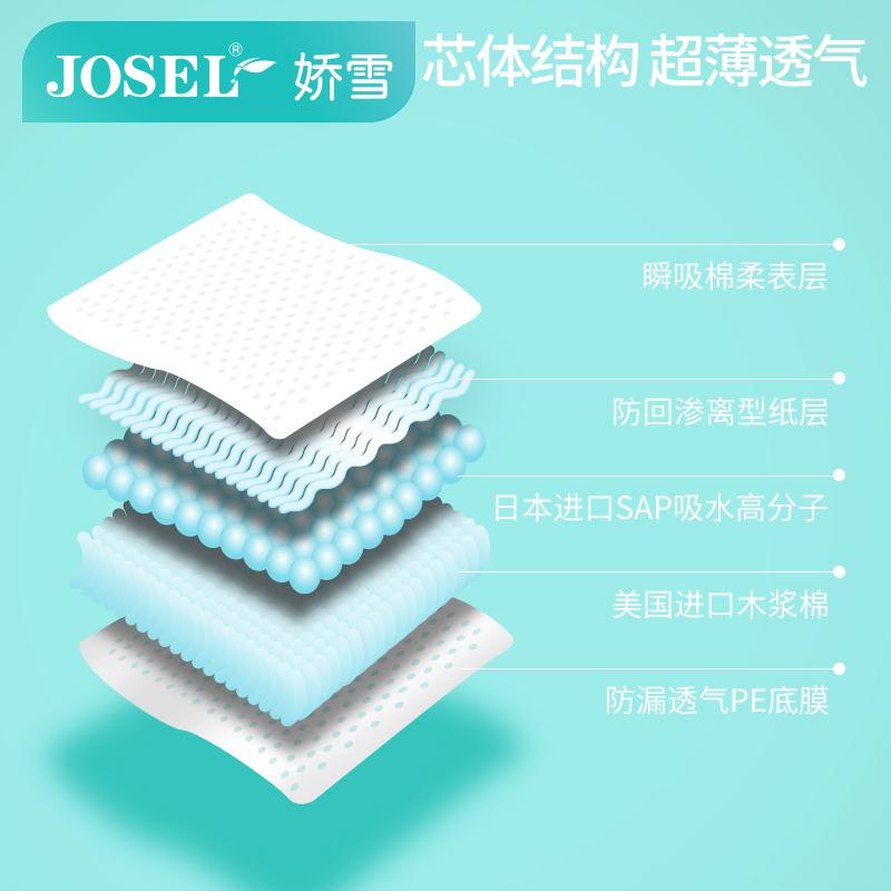 娇雪 零触感护垫 棉柔表层超薄舒爽15.5cm卫生护垫 2包