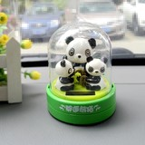 Solar doll swaying giant panda cute shake saline doll car interior ornament car ornament car car doll