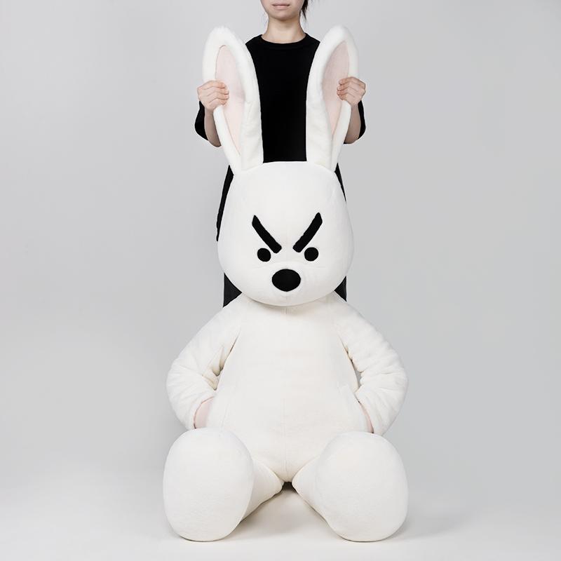 大号公仔安睡玩偶创意毛绒玩具 奋斗大偶兔偶 问童子 预售