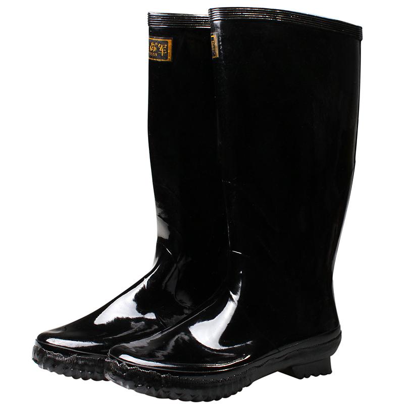 3539橡胶底雨靴户外男士套脚中筒大码防水灌水劳保女士鞋情侣款