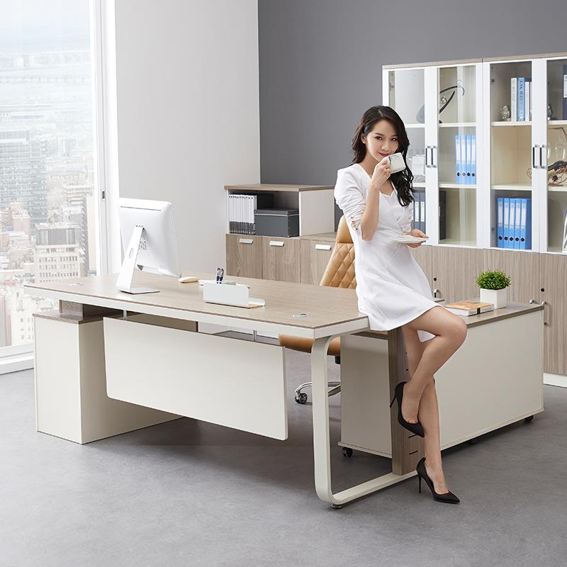 老板桌广州办公家具简约现代板式大班台主管桌经理桌老板办公桌椅