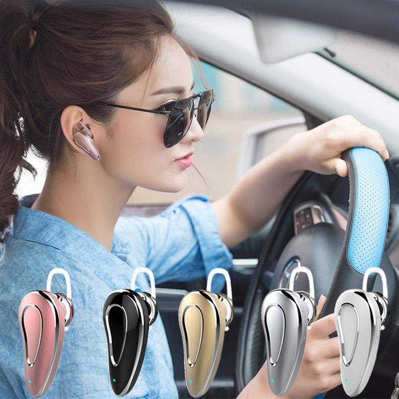 HNEEN 藍芽耳機無線單耳掛耳式開車超長待機聽歌適用vivo華為oppo蘋果安卓通用專用可接打電話型女迷小隱形