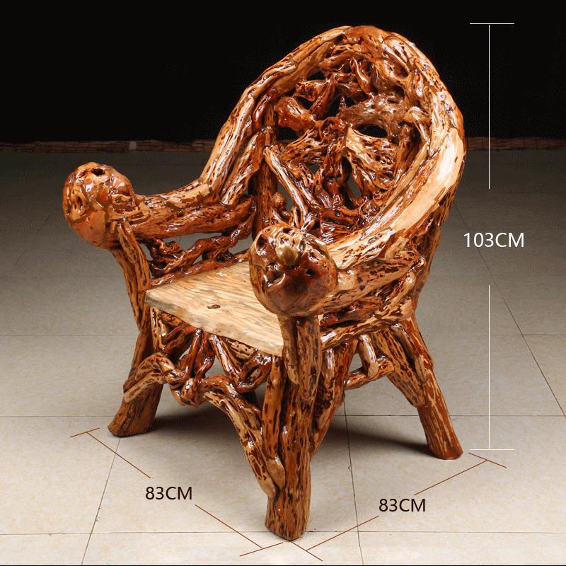 实木太师椅根雕椅子原木家用靠背椅新中式主人椅仿古官帽椅老板椅