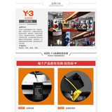 Summer adds y3 men ADDS Y-3 Darth Vader open-toed sandals and slippers heavy-bottomed leisure sports sandals tide