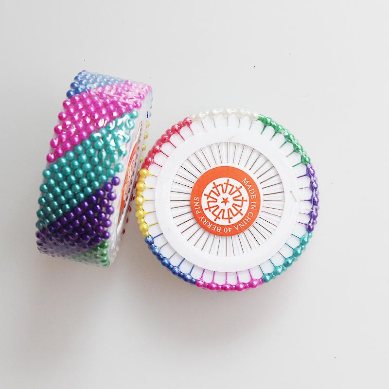 珠针大头针 固定珍珠钉定位针服装立裁针大号定型针 彩色插包工具
