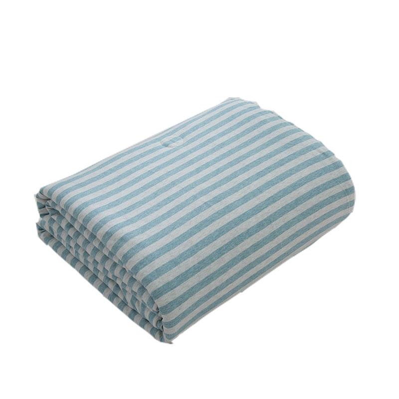 日式全棉針織棉空調被天竺棉夏涼被四件套雙人學生純棉單人薄被子