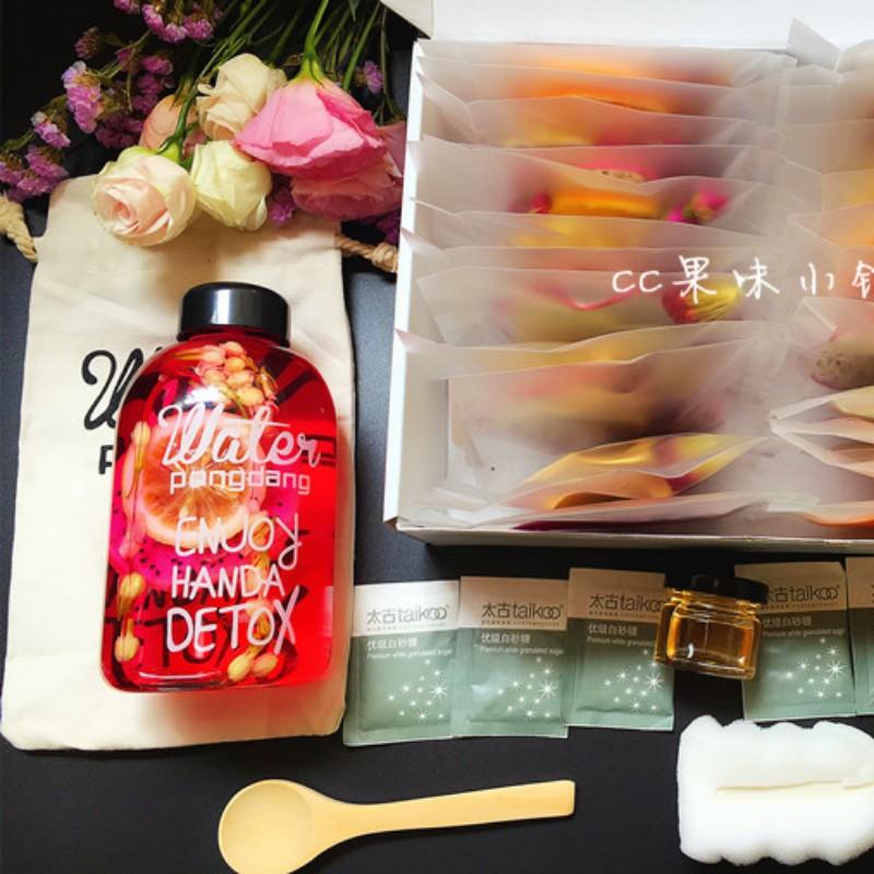 花茶网红饮品水果茶果干新鲜纯手工玫瑰花果茶果粒茶袋装茉莉花茶