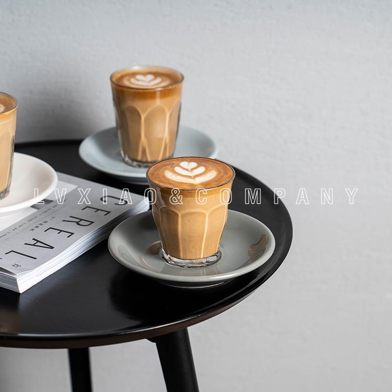 法國玻璃冰咖啡杯flat white 拿鐵杯ESPRESSO dirty 短笛汙咖啡