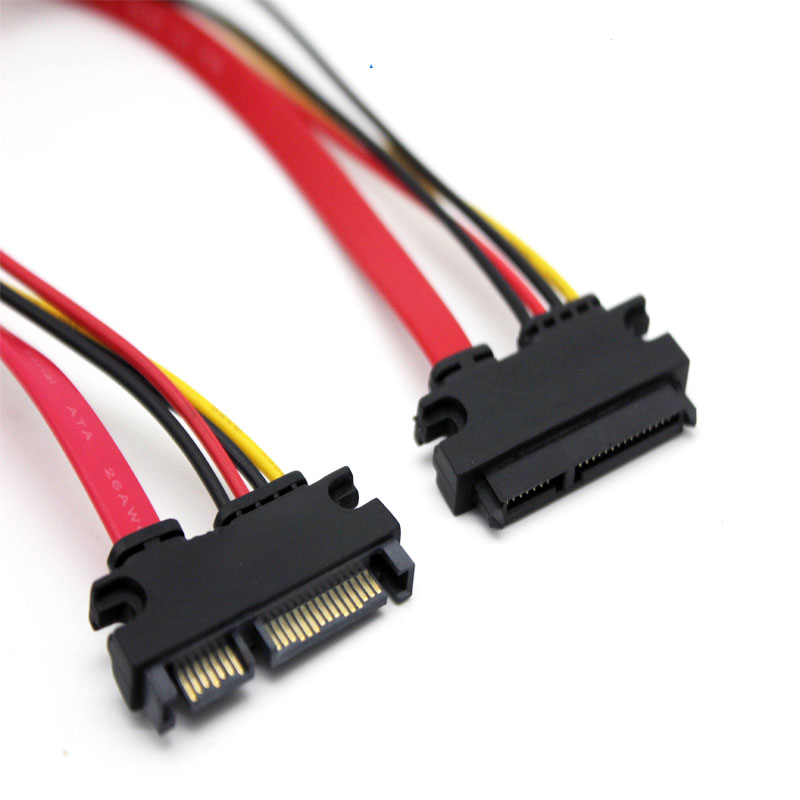八鹰 Sata延长线公对母7+15笔记本电脑移动硬盘电源线数据线长