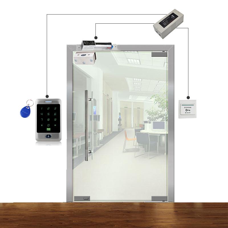 金属触摸密码门禁机户外防水系统套装玻璃门办公室磁力锁铁门小区