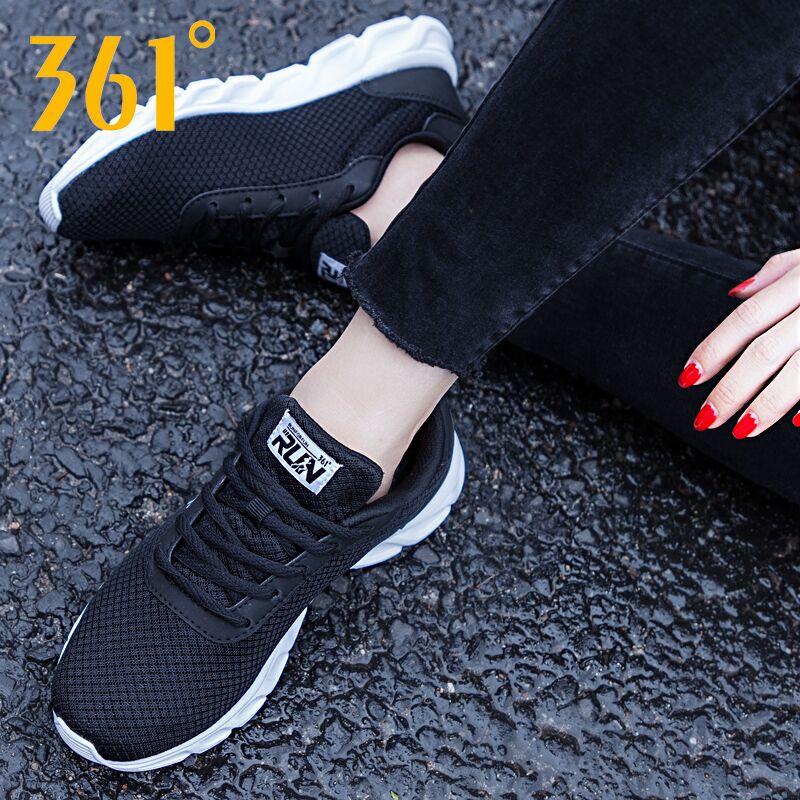 361运动鞋女鞋秋季透气网鞋361度官方旗舰店2019新款网面跑步鞋女
