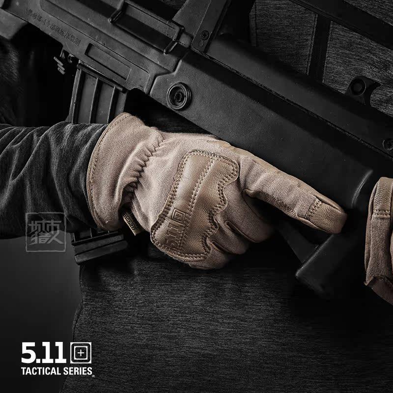 战术手套男美国5.11户外二代手套防护耐磨59342保暖阻燃全指手套