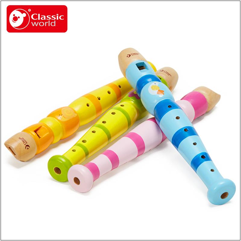 德国可来赛儿童竖笛彩色玩具宝宝乐器初学笛入门音乐启蒙木制笛子