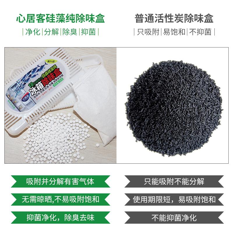 心居客冰箱除味剂5盒硅藻纯抑菌清新去异味除臭家用厨房保鲜神器