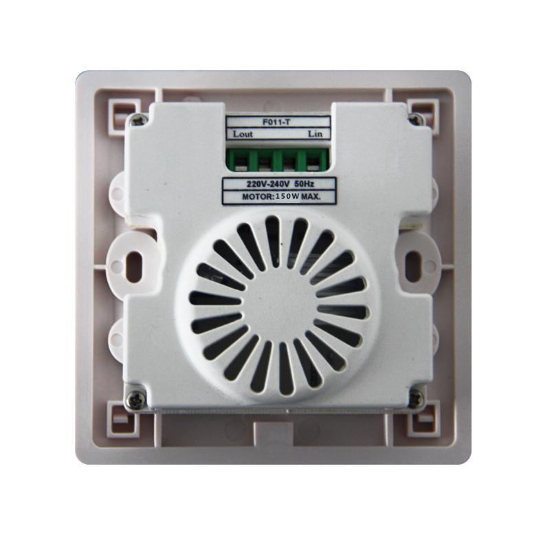 红外遥控按键记忆旋钮无极调速开关风机电风扇吊扇86可控硅调速器