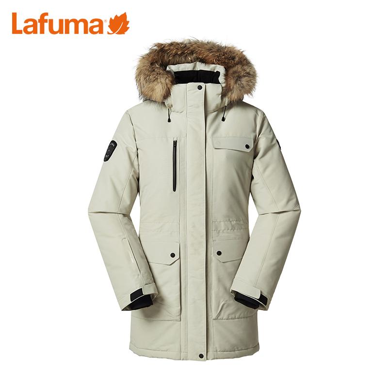 LFJU8DH66 乐飞叶女士冬季户外滑雪旅行加厚保暖毛领羽绒服 LAFUMA