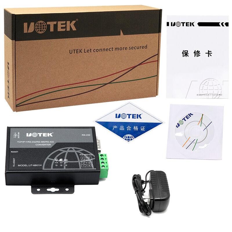 通讯防雷 485 网络转换器 IP TCP 设备联网工业 RJ45 串口转 232 转以太网 RS422 RS485 RS232 串口服务器 6601H UT 宇泰
