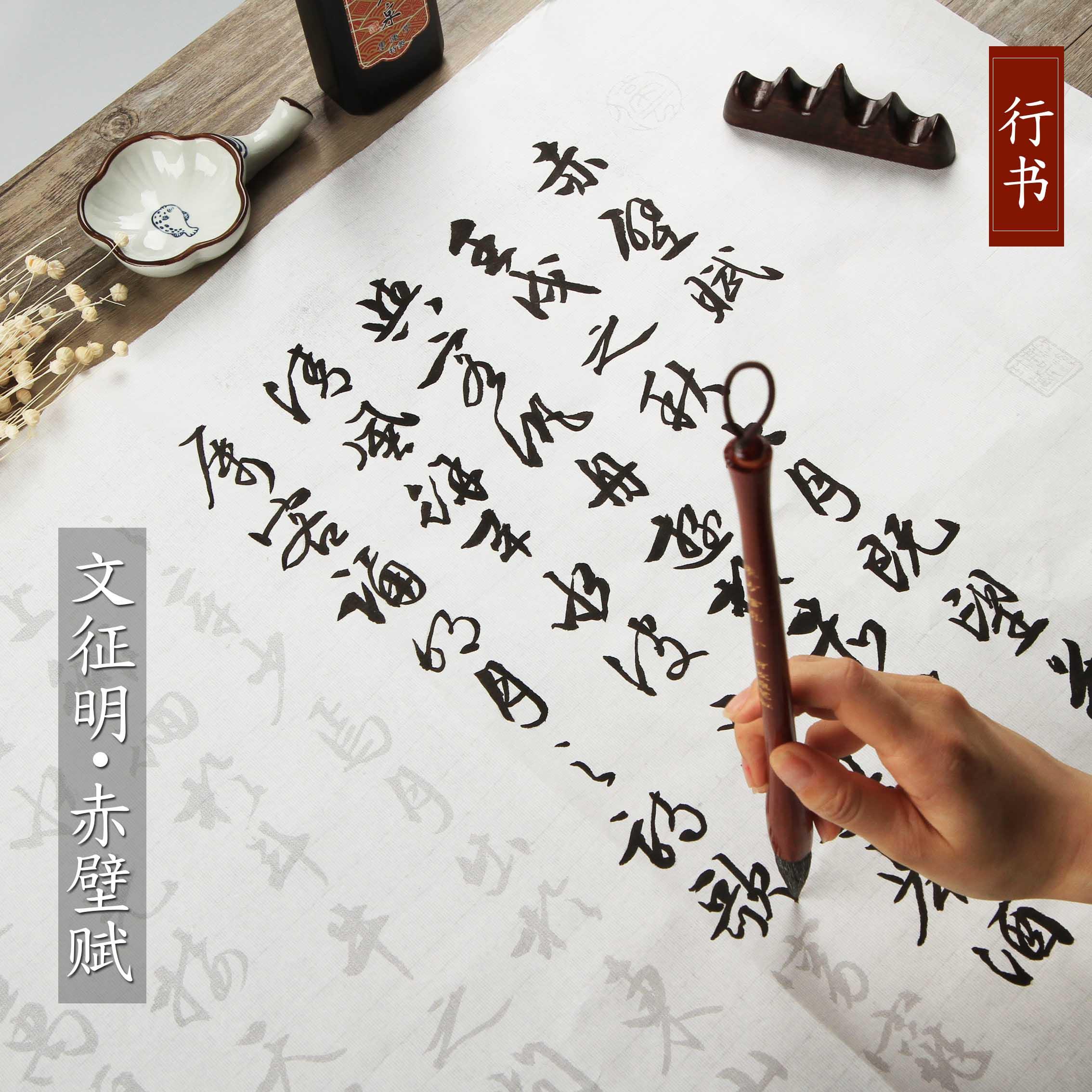 正版文征明(滕王阁序)行书描红临摹字帖手抄本毛笔字书法宣纸