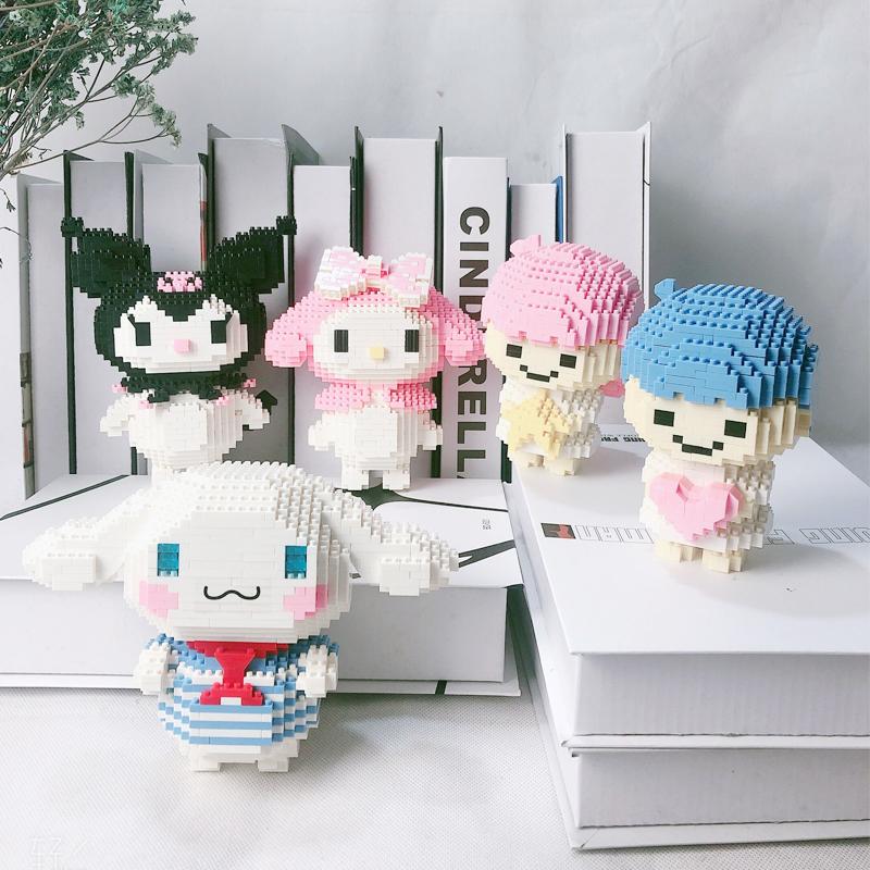微钻型女孩系列成人高难度积木拼装玩具益智小颗粒玉桂狗拼图礼物