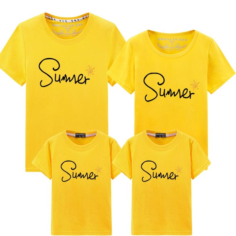 恤母女装婴儿  新款城家三口夏装洋气半袖 2019 亲子装母子装短袖 t