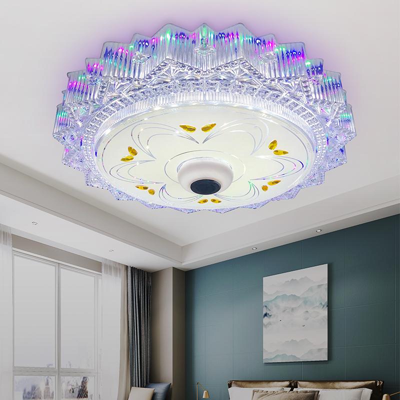 无极调光浪漫婚房圆形房间创意遥控智能灯 LED 音乐蓝牙卧室吸顶灯