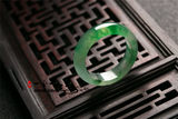 Emerald Ice Ring Sun Green Floating Flower Jade Jade Ring Male Female Floating Green Ring Tail Ring Pull Finger