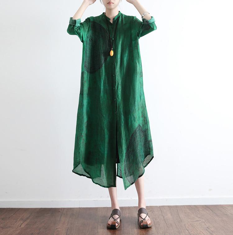 2019秋季新款女装原创设计宽松大码文艺丝麻开衫薄风衣长袖外披女