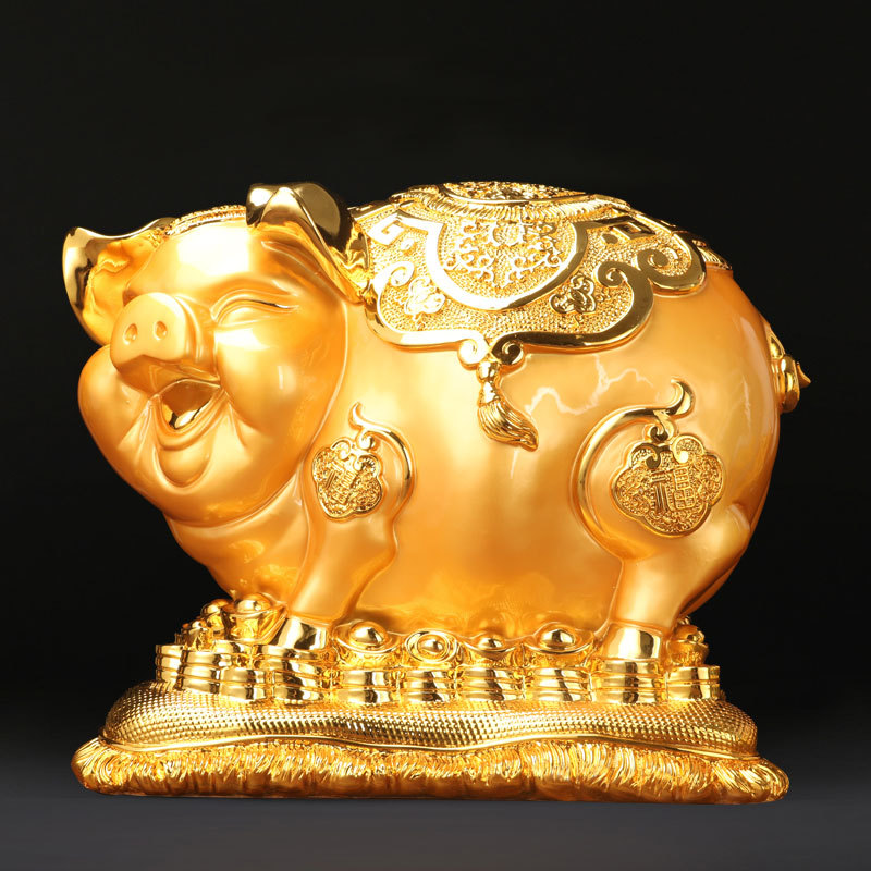 特大号招财金猪高档储蓄罐大型存钱罐超大号巨型大容量可爱创意猪