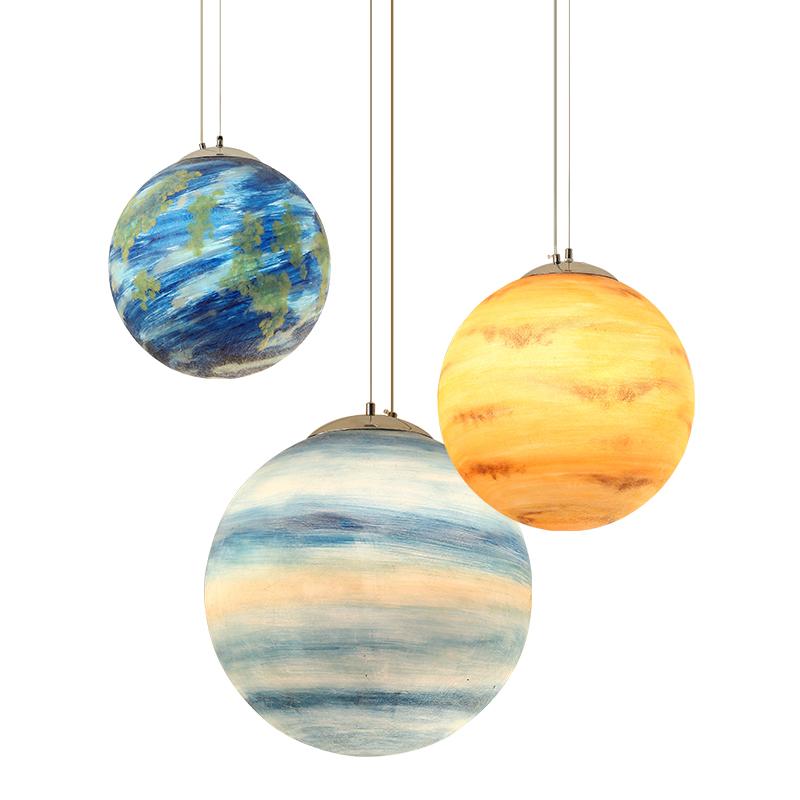 艺术休息室行星球吊灯甜品店内衣店灯幼儿园装饰灯具 图书馆吊灯