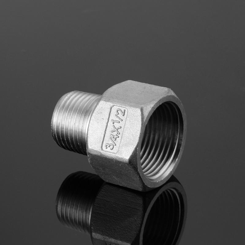 不锈钢接头304变径接头内外丝对丝1寸4分转6分3分2分异径转换配件