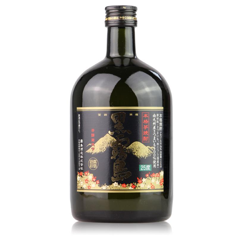 芋烧酎包邮 720ml 烧酒日本黑雾岛本格甘薯烧酒蒸馏酒原装进口洋酒