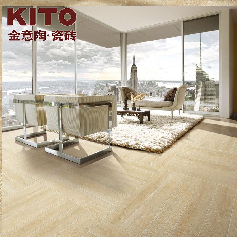 金意陶瓷砖木纹砖客厅卧室阳台地砖仿实木地板砖仿古砖 北美橡木