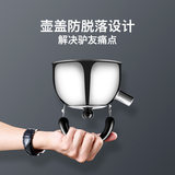 Outdoor portable camping teapot kettle tea kettle camping vehicle liter stainless steel kettle 1L