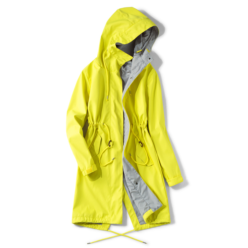 单层薄款防水防风外套中长款户外风衣男装 韩国狼熠冲锋衣女潮牌
