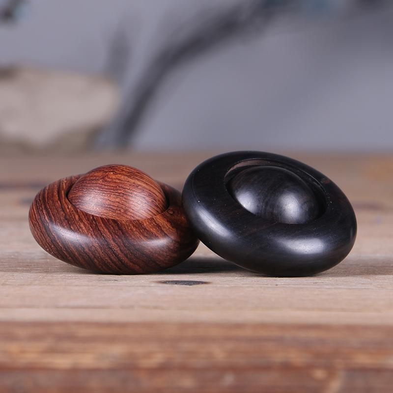 時來運轉手把件黑檀木雕檀木文玩把件大葉黃花梨時來運轉轉運珠
