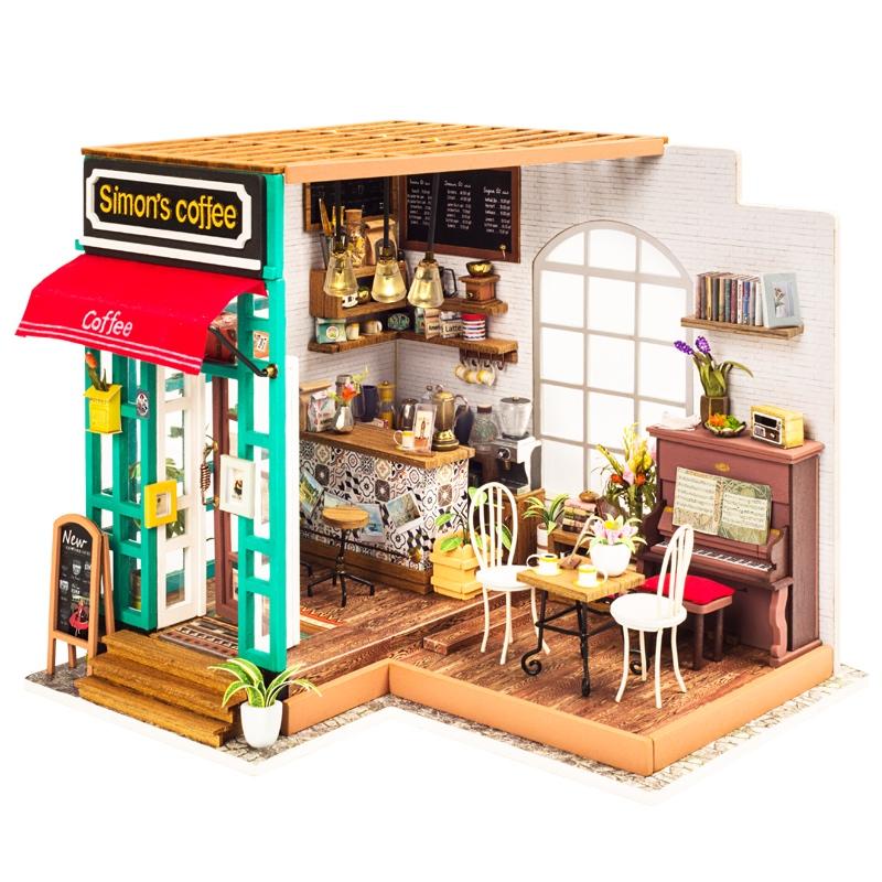 若态艺术屋拼装模型DIY小屋小房子手工制作生日创意礼物咖啡屋女