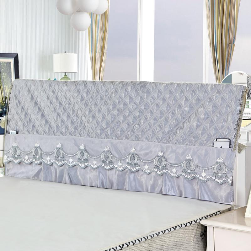 床头套1.5m到2.4m床保护套欧式夹棉床头罩布艺皮艺实木软包靠背罩