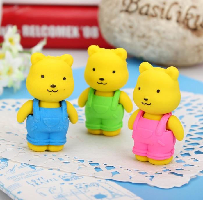 可爱卡通动物小兔子小熊造型橡皮擦  幼儿园男孩女孩玩具礼物
