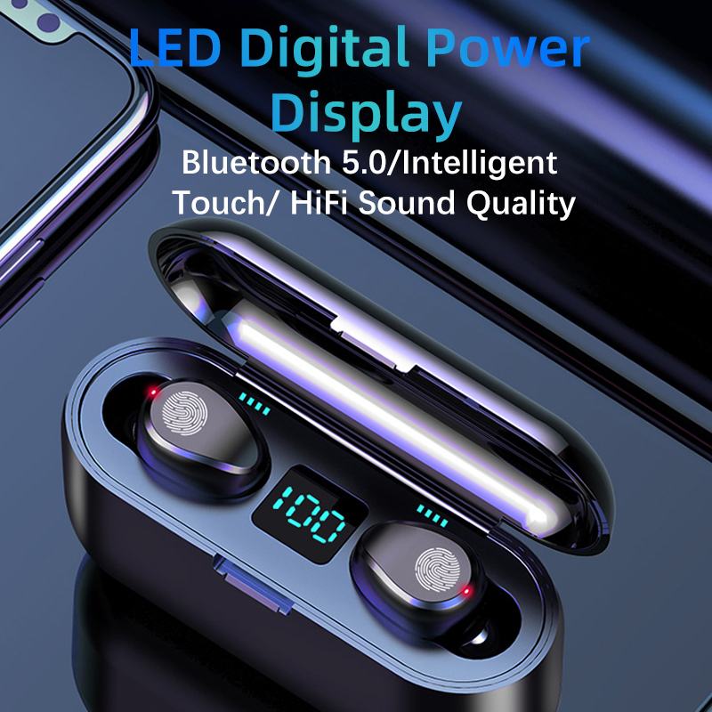 Wireless Headphones Bluetooth 5.0 Earphone TWS HIFI 無線耳機